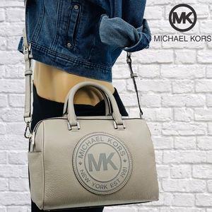 NWT Michael Kors Fulton Sport Leather Logo Satchel